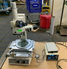 Nikon Measuring Microscope Mm 40 2 Axis Readout Digital Crosshair Generator