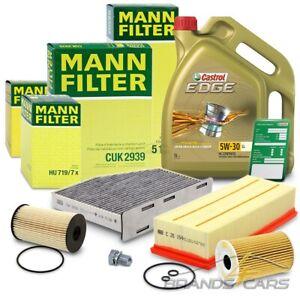 MANN-FILTER INSPEKTIONSPAKET+5L CASTROL 5W-30 LL VW TIGUAN 5N 2.0 TDI BJ 07-