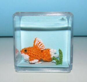 Dollhouse Miniature GoldFish Handmade Toy Pet Stuffed Animal Fish Lover Gift