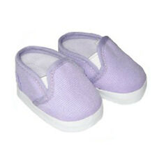 Lavender Canvas Slip on Sneakers Fits 18 inch American Girl Dolls