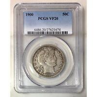 1900 Barber Half Dollar PCGS VF20 #1674115