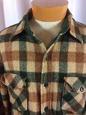 Vtg Woolrich Button Up Plaid Long Sleeves Wool Heavy Shirt Mens L/XL USA Made