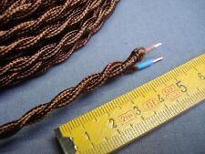 1,5 m fil torsadé gainé tissu marron 2 brins câble électrique
