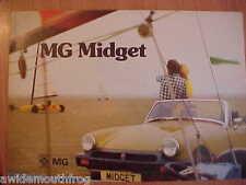 Mg Midget SALES BROCHURE circa 1974 pubblicazione numero 3088