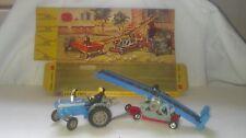 Vintage Corgi #47 , Ford 5000 Super Major Tractor w/ Conveyor Trailer Set