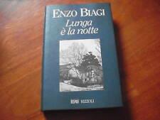 BIAGI, Lunga è la notte Rizzoli 1995 DEDICA