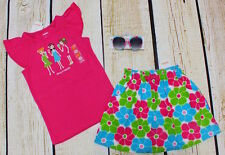 NWT 4T Gymboree Ice Cream Sweetie pink girls top, flower skirt & sunglasses set