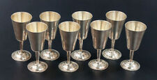 set of 8 Sterling Silver cordials by p. lopez g Circa 1960 eagle 1.
