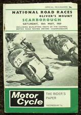 Scarborough Oliver's mount National Moto Course Programme 10 mai 1969