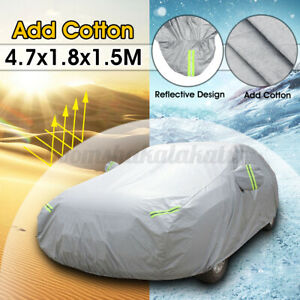 4.7M Universal Waterproof Full Car Cover Heavy Duty Sun Snow UV Dust Protection