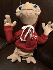 "Vintage Universal Studios 9"" ET with Red Hoodie Beanie Stuffed Animal"