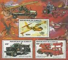 Timbres Pompiers Djibouti bloc spécial 587/9 ** lot 26013 - cote : 35 €