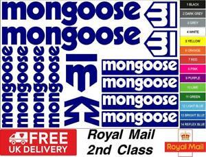 MONGOOSE Bikes S1 Decals, Stickers, Mtb. Cycling, Bmx, Car, Van
