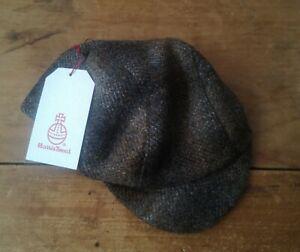 Unique Handmade Harris Tweed Cycling Cap, Mottled Tweed.