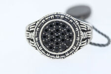 NEW Legendary Men's Sterling Silver Round Black Spinel Ring Size 13