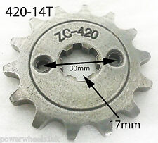 SPF18 14 TOOTH FRONT SPROCKET FOR 420 CHAIN PIT / DIRT BIKE 17MM SPLINE 420-14T