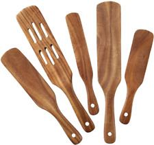 5 Pcs MESSON Spurtle Set Premium Spurtles Kitchen Tools Wooden Spatula Spoons