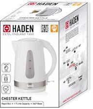Haden Chester Kettle 1.7 litre White 3000W Indicator Light Fast Boil Water