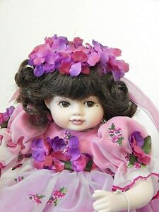 """OLIVE MAY LOVING TRIBUTE Marie Osmond 8"""" Tiny Tot Seated Porcelain Doll, MIB"""