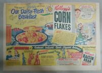 Kellogg's Cereal Ad: Corn Flakes Statuettes ! From 1950 Size: 11 x 15 inches