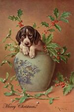 German Shorthaired Puppy Dog by C Reichert Large New Blank Christmas Cards