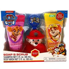 Paw Patrol Kids Bath Time Gift Set Sponge Scrub Marshal Kids Body Wash Shampoo