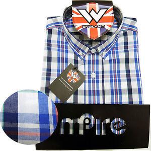 Warrior UK England Button Down Shirt NELSON Hemd Slim-Fit Skinhead Mod S-M