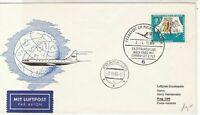 Germany 1966 Maiden Flight Jet B 727 Slogan Cancel Airmail Stamps Cover Ref26635