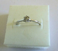 9 ct White Gold and .20 natural diamond solitaire ring - London Hallmarks