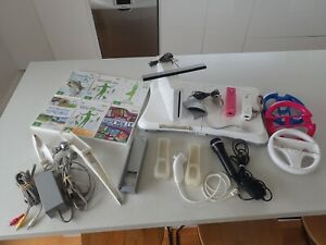 Nintendo Wii Console Bundle - Wii Fit, Plus More