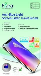 6.1 inch - Fiara Anti Blue Light Screen Protector / Filter | Self-Adhesive Film