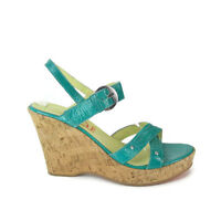 YOU by CROCS Ankle Strap Cork Wedge Leather Sandals Women's US Shoe SZ 10.5