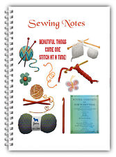 A5 SEWING NOTES NOTEBOOKS/ NOTEBOOK FOR HER 50 LINED TO DO PAGES GIFT NOTES
