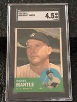 1963 Topps #200 Mickey Mantle SGC 4.5 VG/EX+