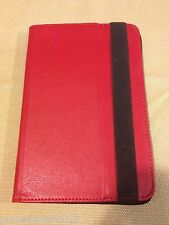 "Visual Land Prestige 7"" Folio Tablet Case (Red)"