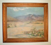 CALIFORNIA PLEIN AIR IMPRESSIONISM DESERT LANDSCAPE OIL PAINTING ARTIST SIGNED