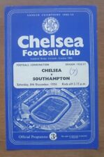 Chelsea v Southampton, 08/12/1956 - Combination (Reserves) Programme
