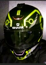 HELMET REFLECTIVE TRON STYLE DECALS STICKERS YELLOW BE SEEN AT NIGHT HI VIZ FR