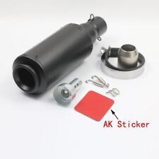 Universale Moto Terminali di Scarico 36-51mm Tubo Silenziatore Carbonio/Acciaio