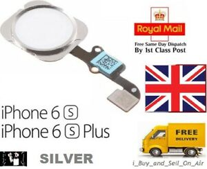 For iPhone 6S & 6S Plus Home Button Flex Cable Replacement SILVER. FAST & FREE