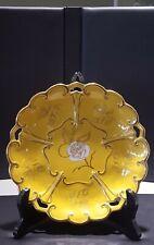 Vtg JLMENAU Graf Von Henneberg Porzellan Yellow & Gold Plate Germany