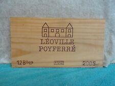 2005 LEOVILLE POYFERRE WOOD WINE PANEL END