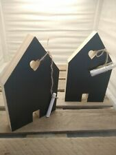 NEW CHALK BLACK BOARD HOUSE HOME SHAPED NOTE PLAQUE SIGN WOODEN