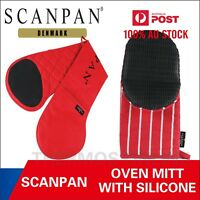 100% Genuine! SCANPAN Oven Mitt / Double Oven Mitt with Silicone Red RRP $36.95!