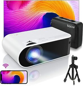 "Bacar WiFi Mini Projektor 6000 Lumen, 1080p 200"" Display unterstützt"