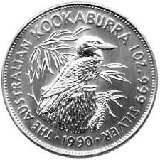 1 OZ PLATA KOOKABURRA 1990 PRIMERA EDICIÓN 1 onza Plata en cápsula