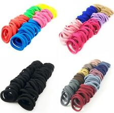 50 Pcs/lot Black Colorful Scrunchies Ponytail Holders Rubber Band White Hair Tie