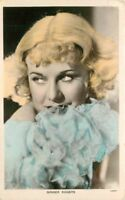 Ginger Rogers hand tinted 1930s RPPC Photo Postcard Colourgraph 37