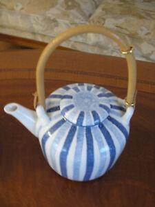 Hedwig Bollhagen Dekor 137 Keramik Teekanne 1115B mit Bambushenkel