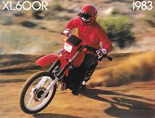 '83 Honda XL600 XL600R Sales Brochure